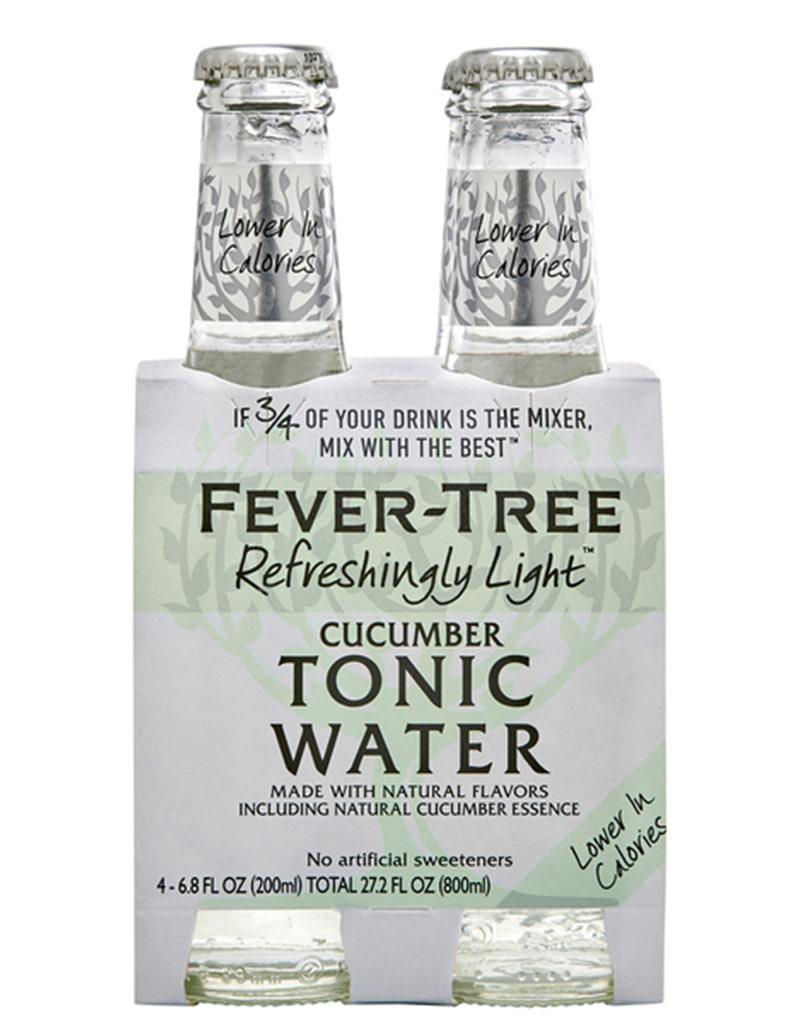 Fever Tree Light Cucumber Tonic 200mL, 4pk
