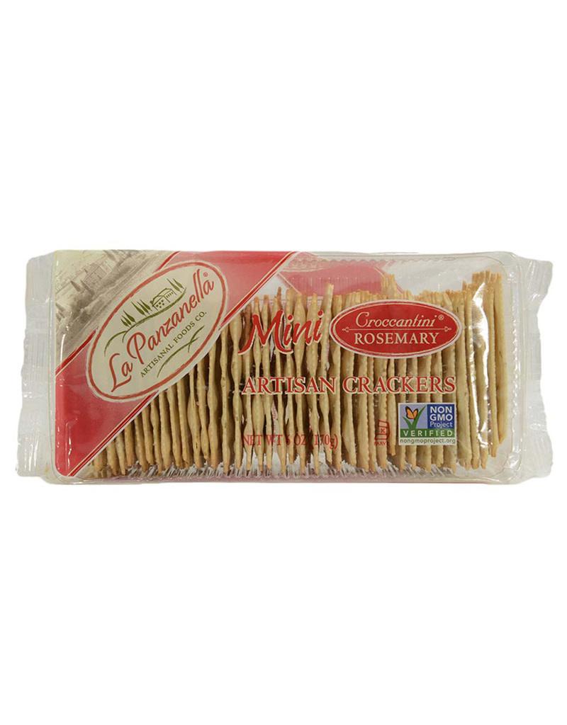 La Panzanella Mini Croccantini Rosemary, Crackers, 6oz [Non GMO]