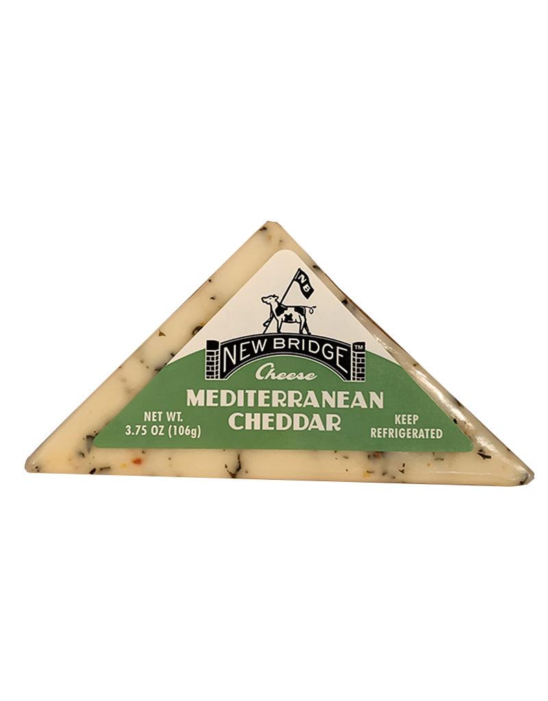 New Bridge Mediterranean Cheddar Cheese, 3.75oz, USA