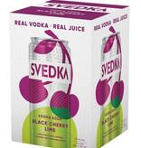SVEDKA Black Cherry Lime Vodka Soda 4pk Cans