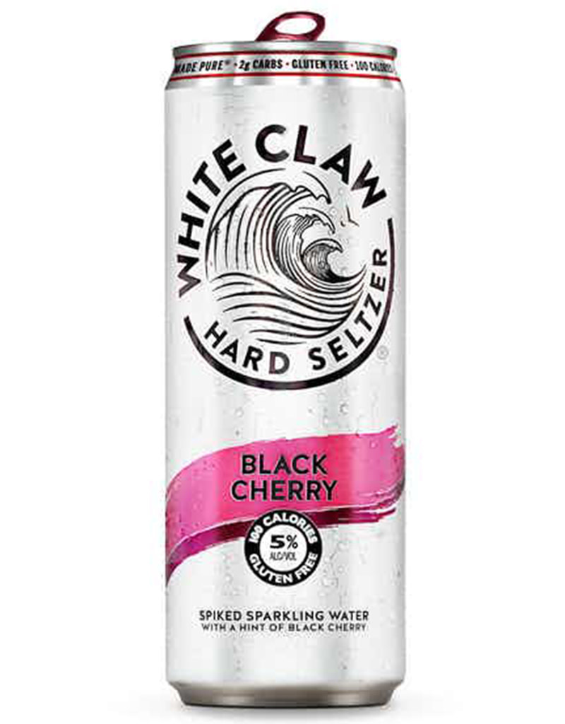 White Claw Spiked Hard Seltzer Black Cherry, Single Can