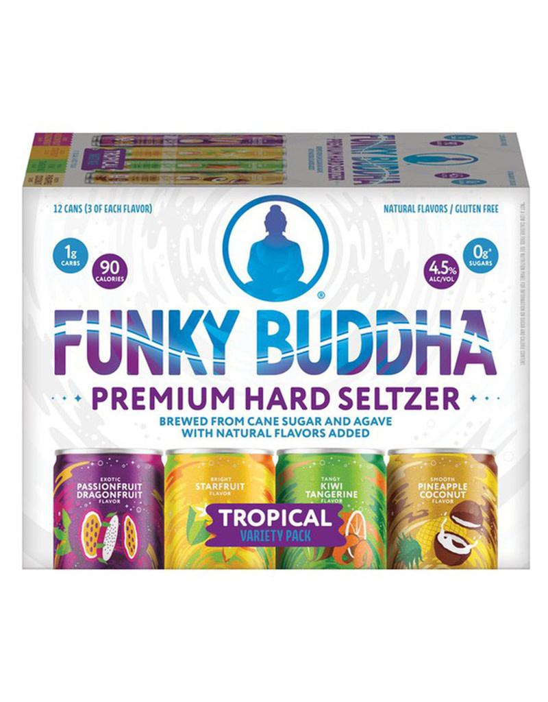 Funky Buddha Brewery Funky Buddha Brewery Naturally Light Tropical Hard Seltzer Variety 12pk Cans