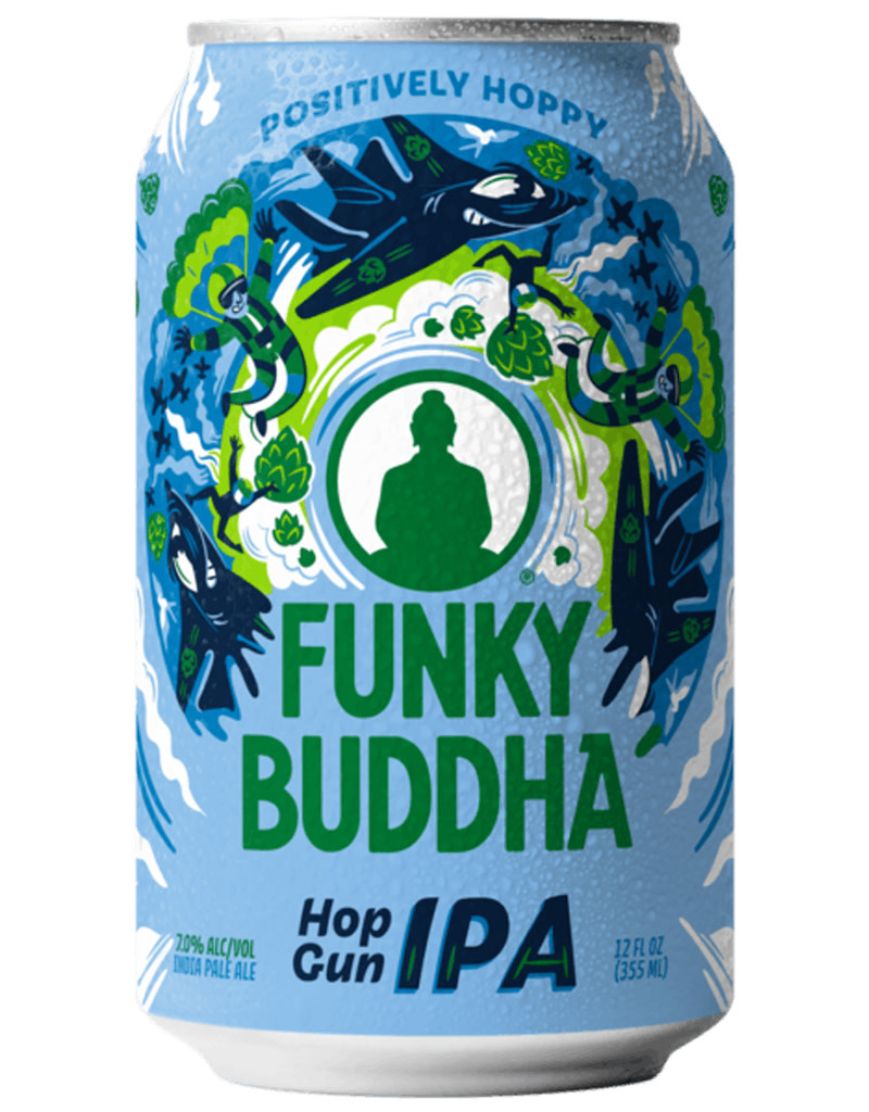 Funky Buddha Brewery Funky Buddha Brewery 'Hop Gun' IPA, 6pk Cans