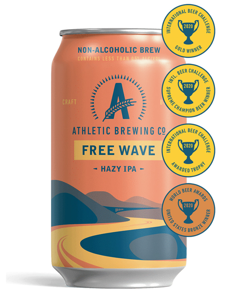 Athletic Brewing Co. Free Wave Hazy IPA, 6pk Cans [Non Alcoholic]