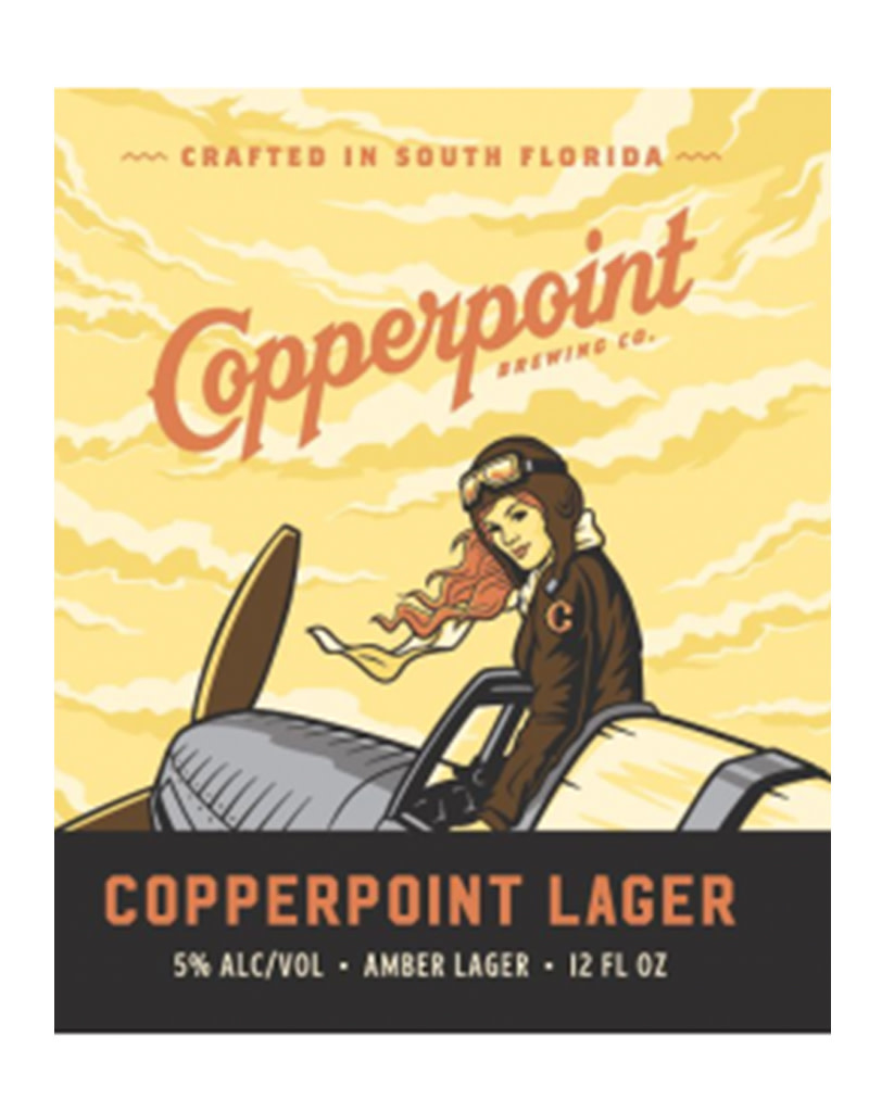 Copperpoint Brewing Co. Lager, Florida 6pk Cans