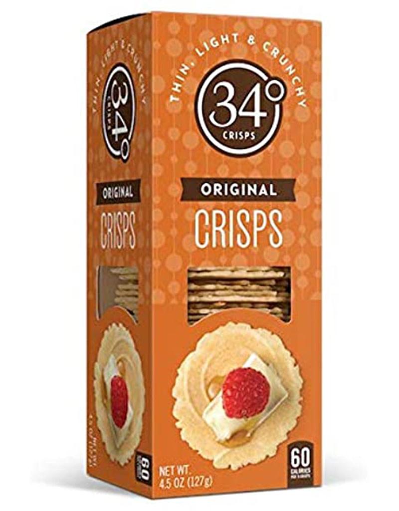 Savory Crisps Natural 34 Degrees, Crackers 4.5oz