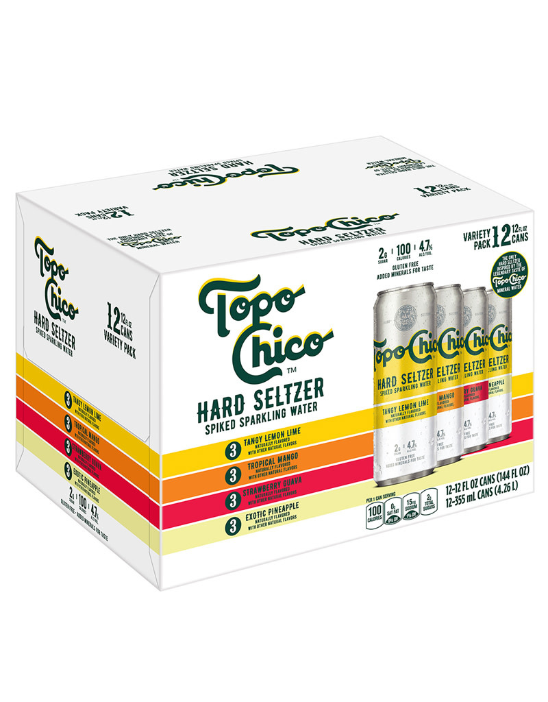 Topo Chico Hard Seltzer Variety Pack, Spiked Sparkling Water, 12pk Cans
