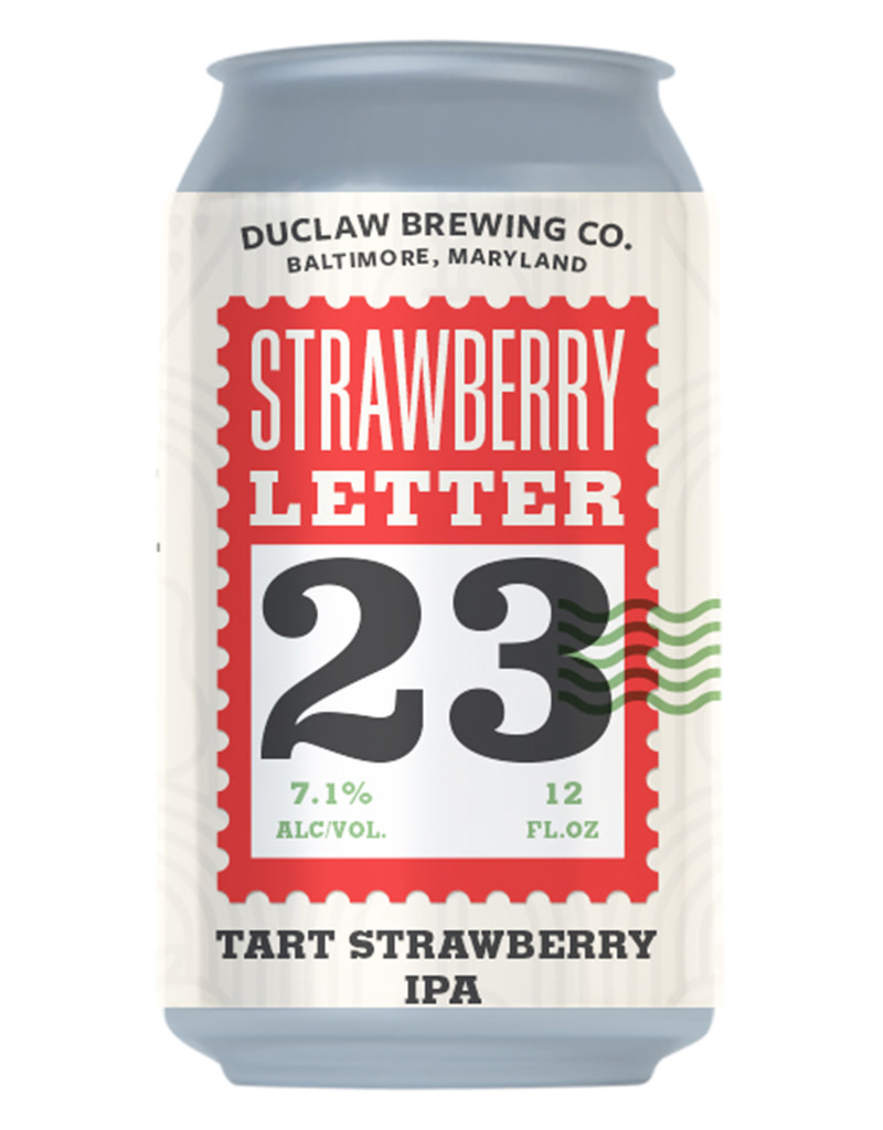 DuClaw Brewing Co. 'Strawberry Letter 23' Sour IPA Beer Can, Maryland 6pk