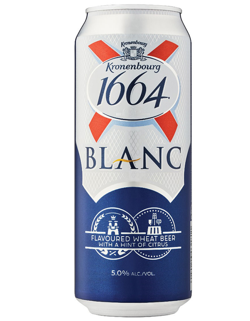Kronenbourg 1664 Blanc, French Beer Can 330mL (11.2oz)