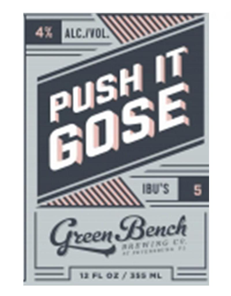 Green Bench Brewing Co. Green Bench Brewing Co. Push It Gose, 6pk Cans