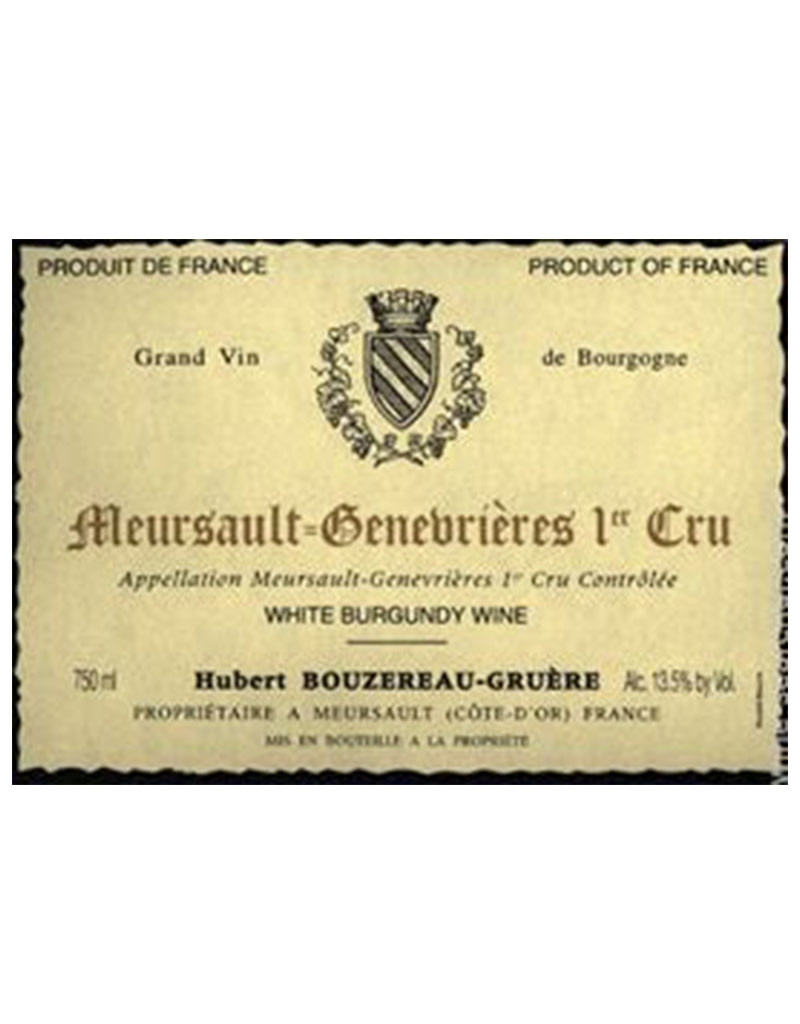 Domaine Hubert Bouzereau-Gruere et Filles 2018 'Genevrieres'  Premier Cru, Meursault, Burgundy, France