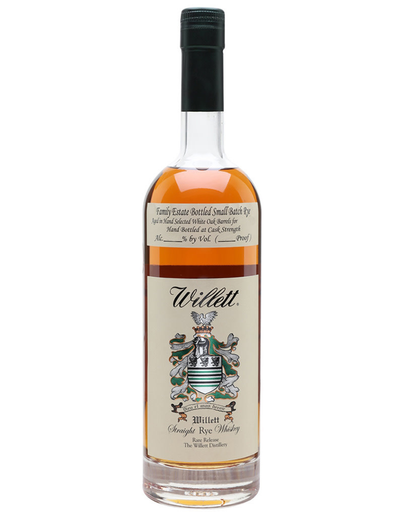 Willett Distillery Straight Rye Rare Release 4 Year Whiskey, Kentucky