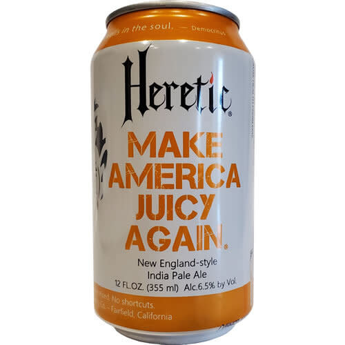 Heretic Brewing Co. Make America Juicy Again New England-Style, IPA, 6pk Cans