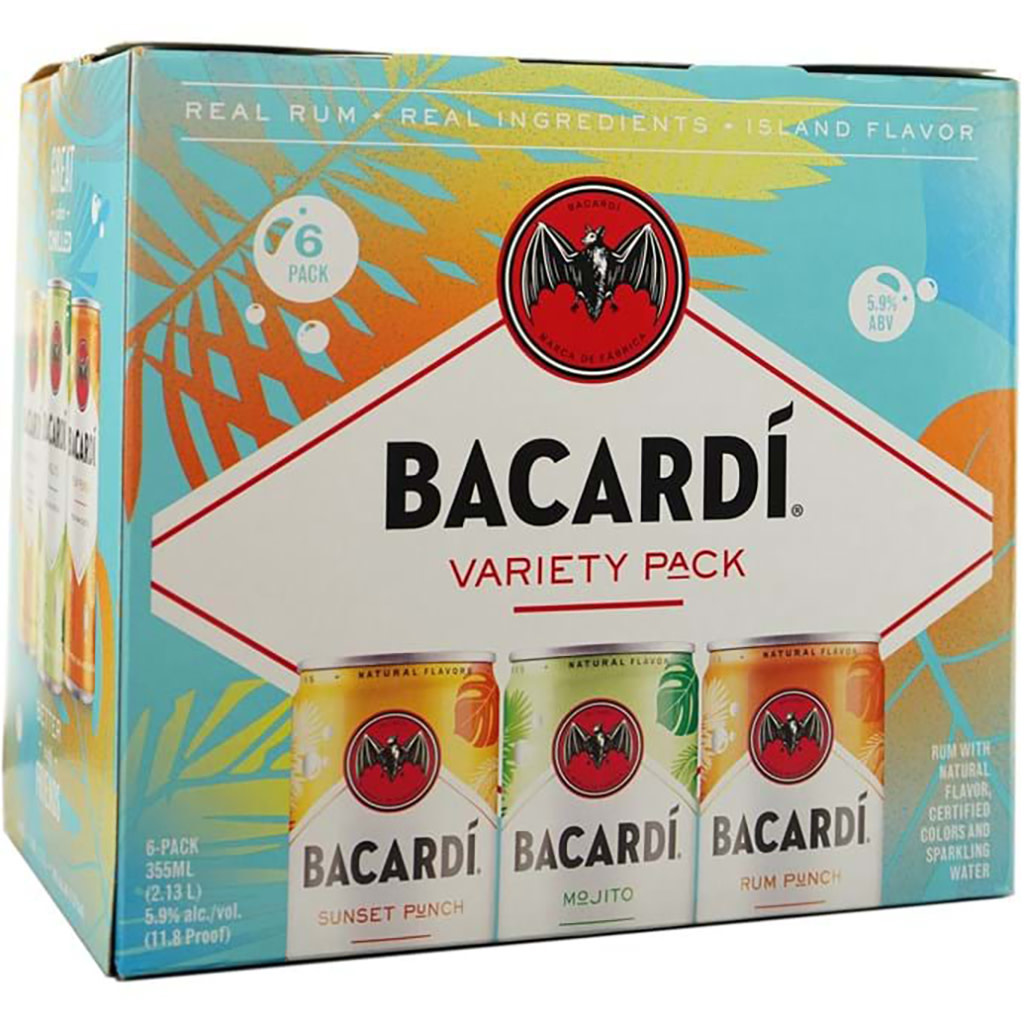 Bacardi Co. Bacardi Rum Cocktail Variety 6pk Cans