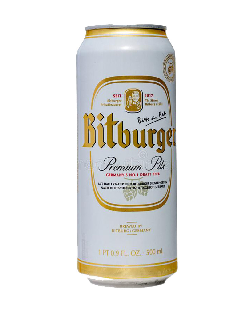 Bitburger German Pilsner Beer, 16.9oz Single Can