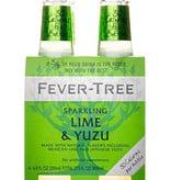 Fever Tree Lime & Yuzu Soda Water 200mL, 4pk