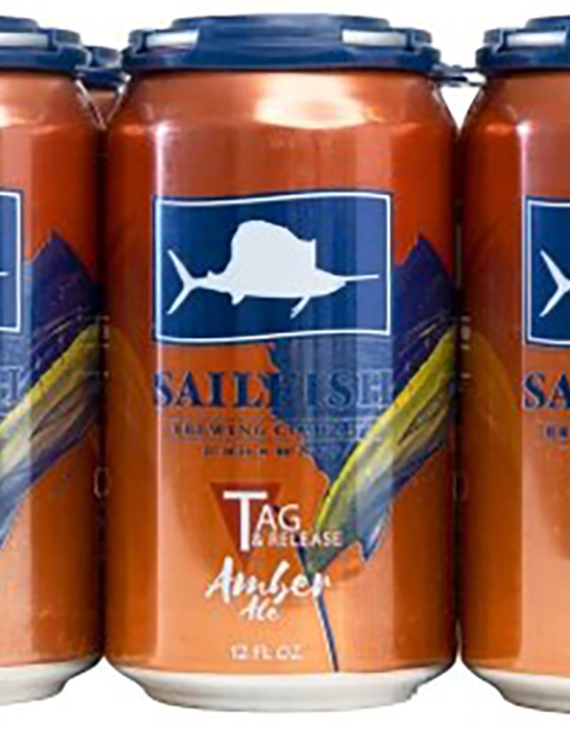 Sailfish Brewing Company Tag & Release Amber, 6pk Cans