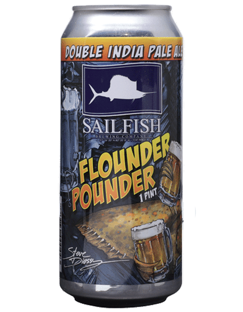 Sailfish Brewing Company Flounder Pounder DIPA, 16oz Single