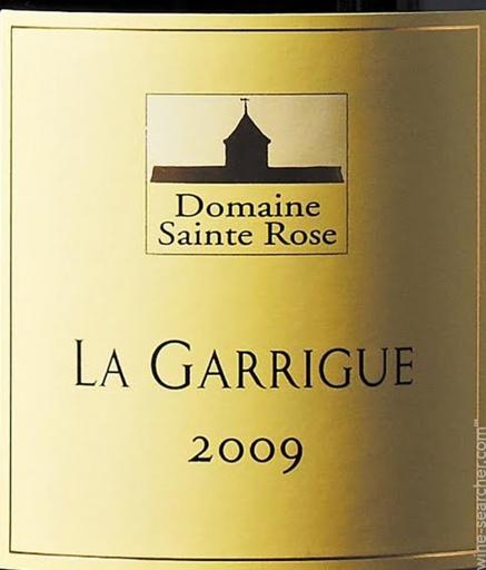 Domaine de Sainte Rose Domaine Sainte Rose 2012 La Garrigue, IGP Pays d'Oc, France ROUGE