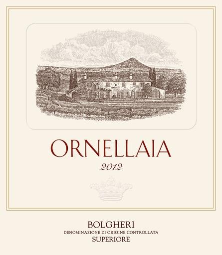 Ornellaia Ornellaia 2012 Bolgheri Superiore, Tuscany, Italy