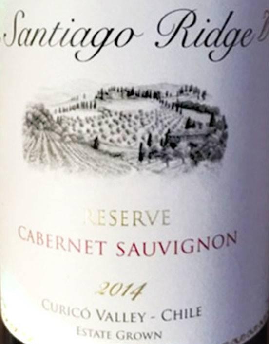 Santiago Ridge 2015 Cabernet Sauvignon Reserva, Chile