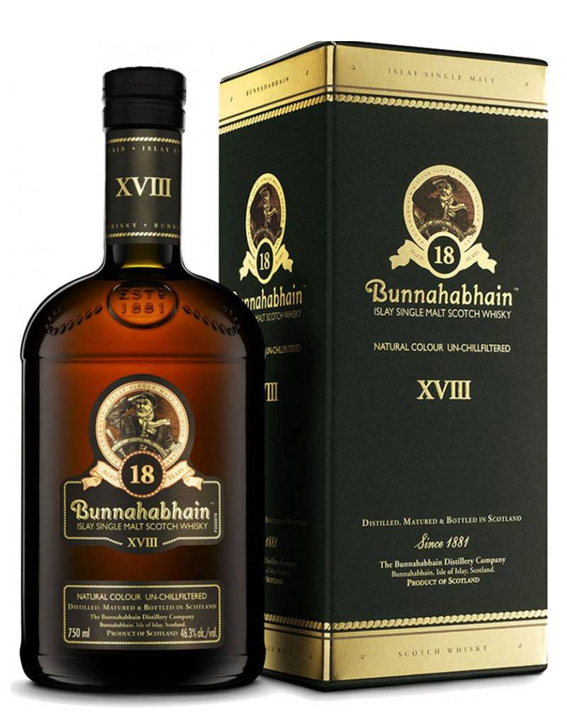 Bunnahabhain Distillery Bunnahabhain 18 Year XVIII Islay Single Malt Scotch Whisky