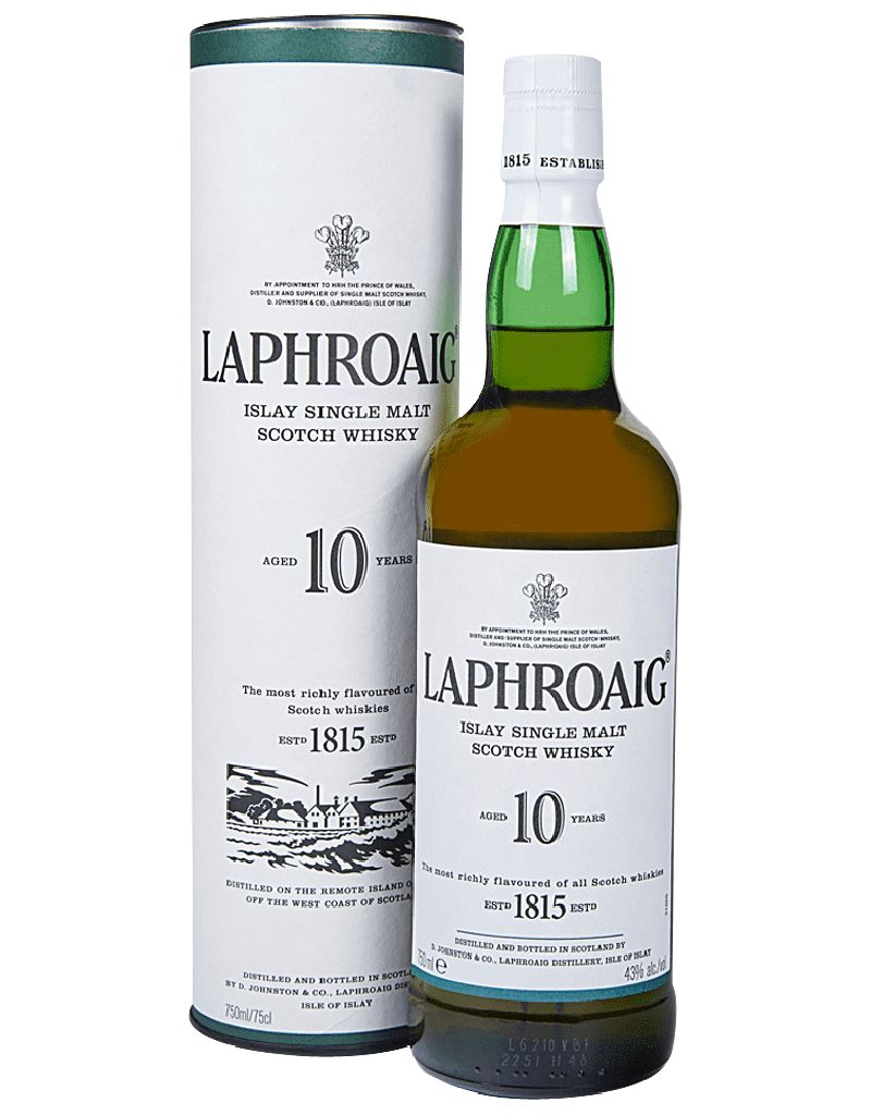 Laphroaig 10 Year Single Malt Scotch Whisky, Scotland