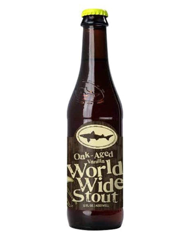 Dogfish Head Bourbon Barrel Aged World Wide Stout, 4pk Bottle