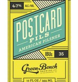 Green Bench Brewing Co. Green Bench Brewing Co. Postcard Pilsner, 6pk Cans
