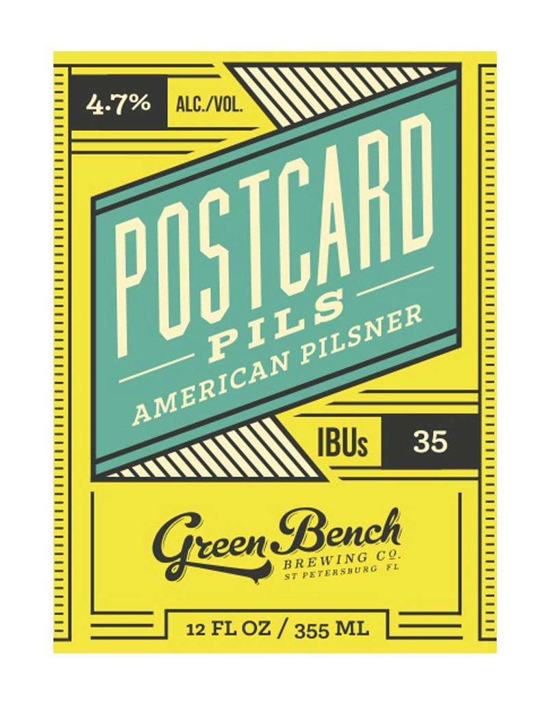 Green Bench Brewing Co. Green Bench Brewing Co. Postcard Pilsner, 6pk Cans