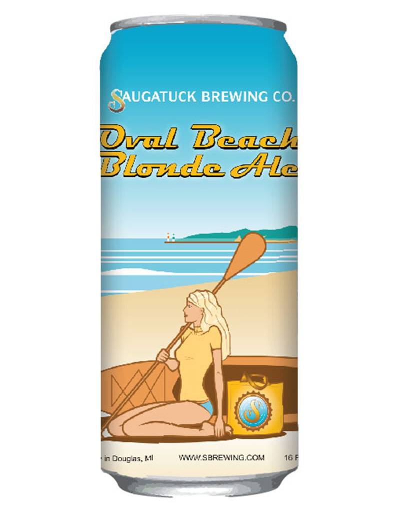 Saugatuck Brewing Co. Oval Beach Blonde, 6pk Cans