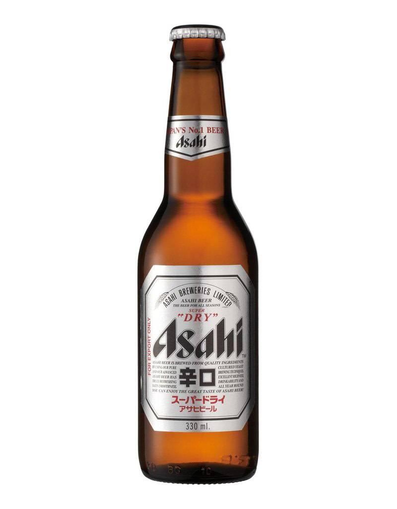 Asahi Brewing Asahi Super Dry Beer Bottle, Pint