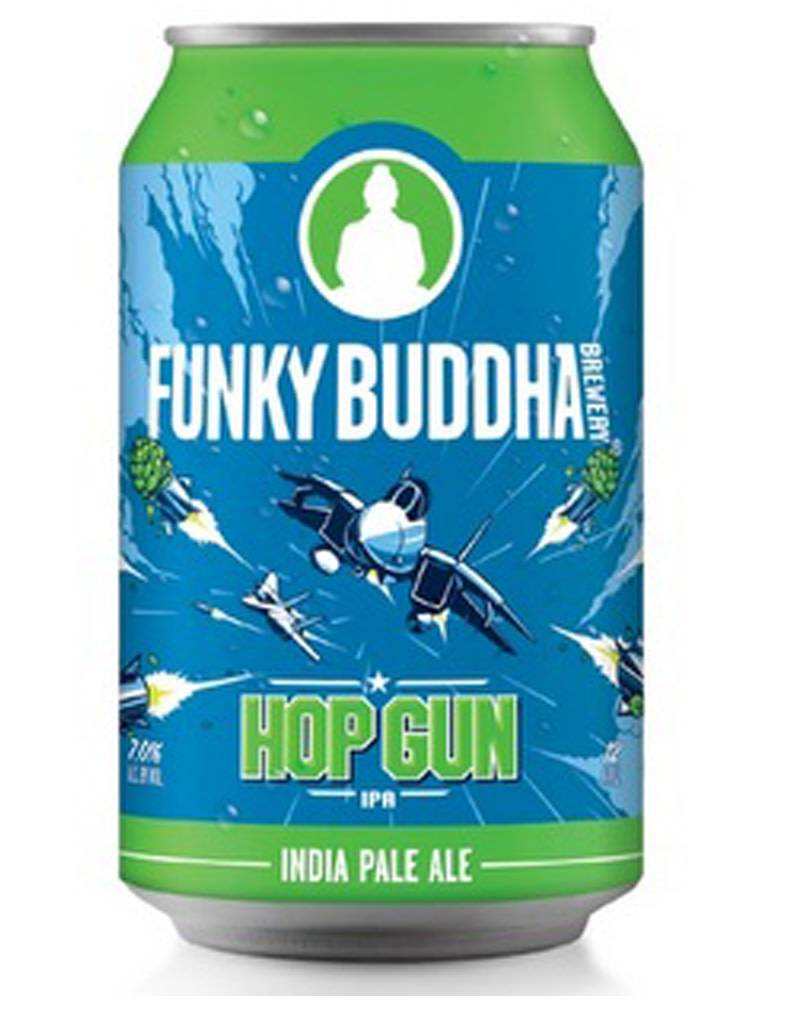 Funky Buddha Brewery Funky Buddha Brewery 'Hop Gun' IPA, 12pk Cans