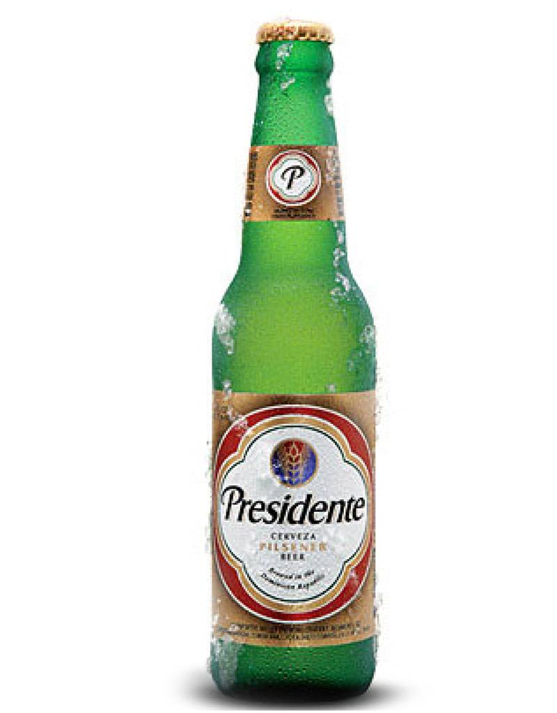 Cerveceria Nacional Dominicana Presidente Cerveza Pilsner, 6pk Bottles