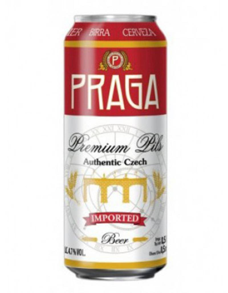 PRAGA Premium Pilsner, Authentic Czech Beer, Single Can