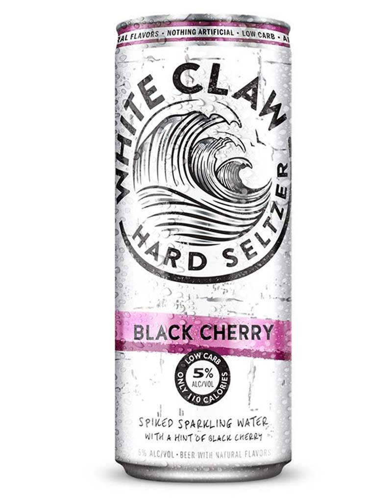 White Claw Spiked Hard Seltzer Black Cherry, 6pk Cans