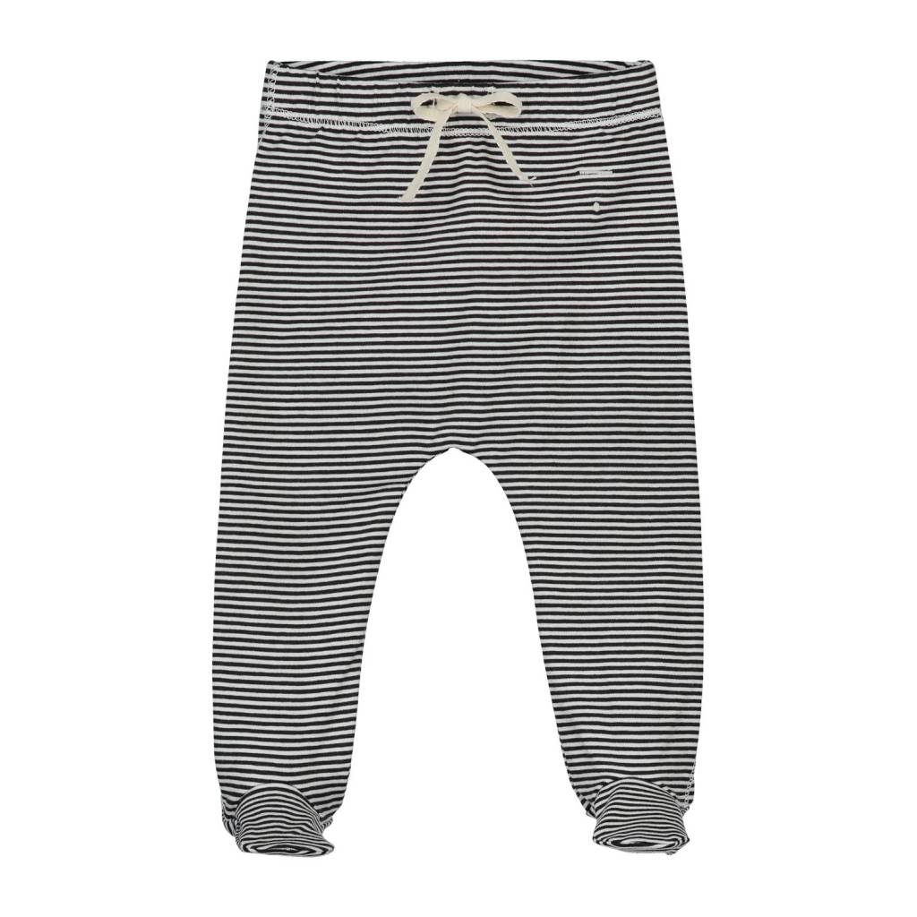 Gray Label Footies black/cream stripe