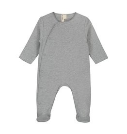 Gray Label Baby suit with snaps grey