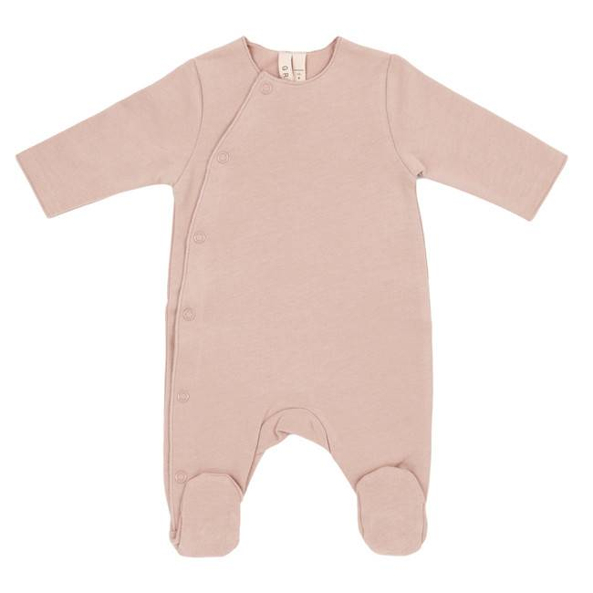 Gray Label Baby suit with snaps vintage pink