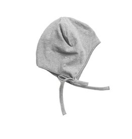 Gray Label Baby Hat w strings grey