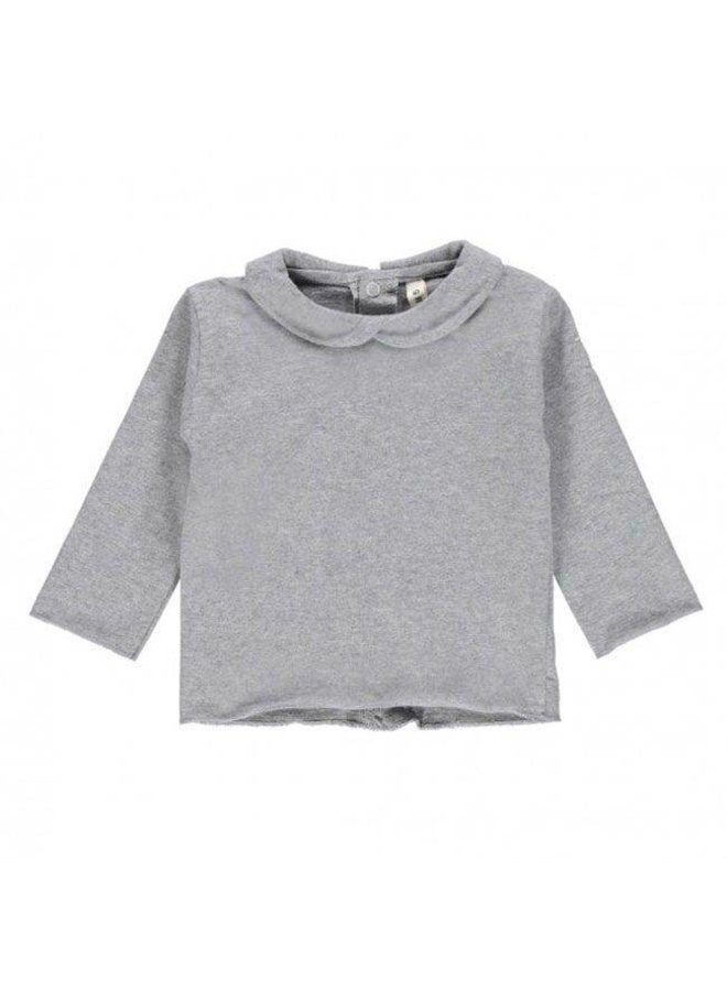 Collar tee-Shirt grey