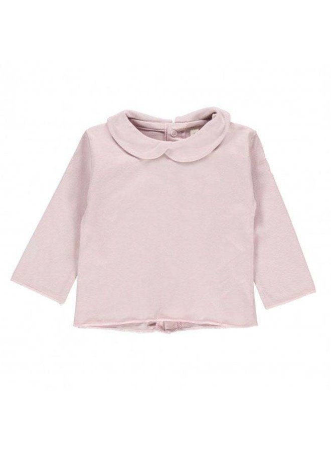 Collar tee-Shirt vintage pink