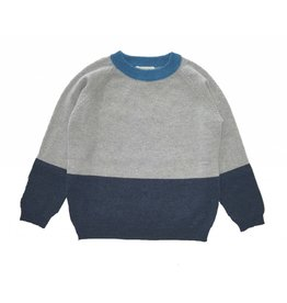 Oliver baby Cashmere Color Block Blue