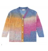 Morley Ivory rainbow pink cardigan