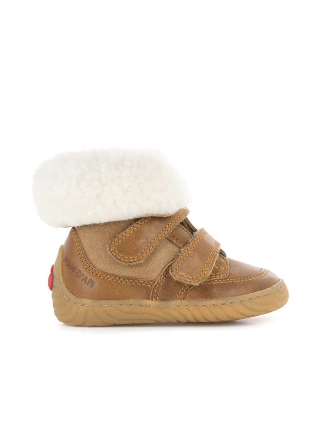 Woody Easy Fur Camel/Off White