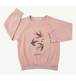 Red Caribou Terry Sweatshirt Fly High