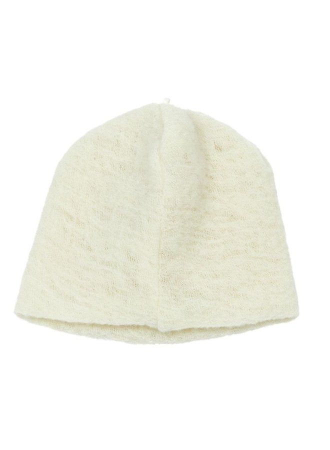 Natural wool hat