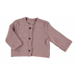 Pequeno Tocon Ribbed pink cardigan