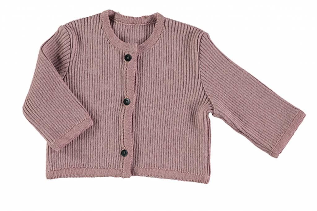 Pequeno Tocon Ribbed pink cardigan