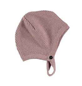 Pequeno Tocon Pink ribbed bonnet